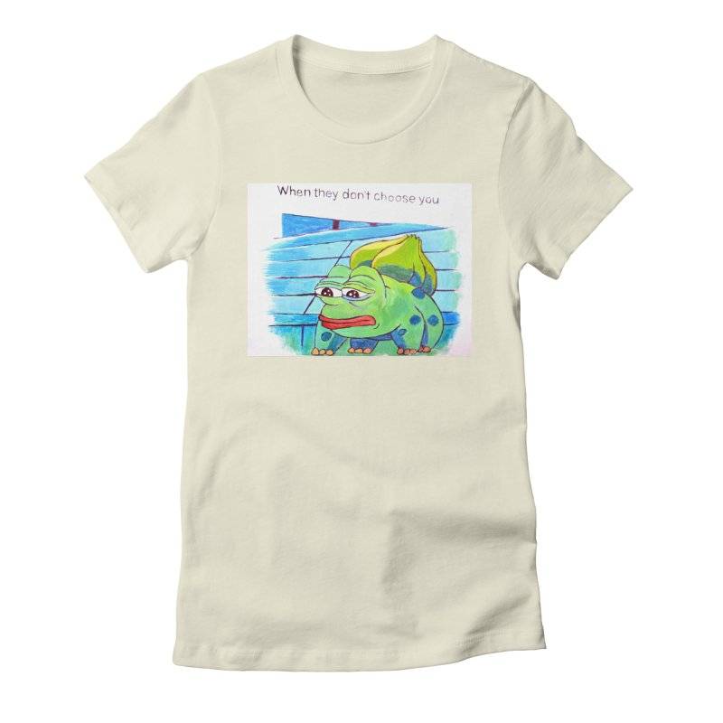 pepesaur Women's Fitted T-Shirt by paintings by Seamus Wray