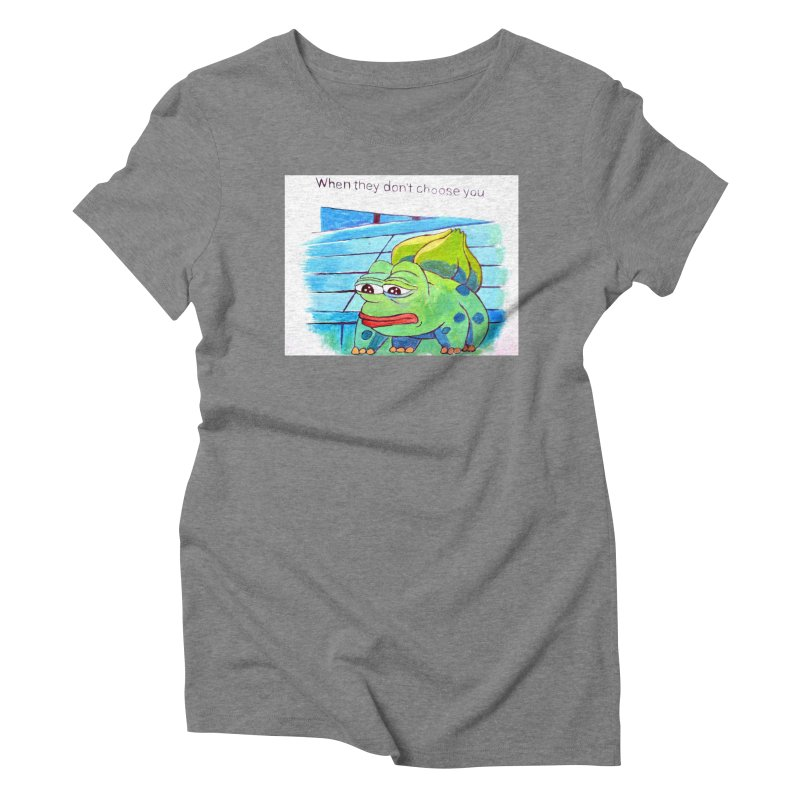 pepesaur Women's Triblend T-Shirt by paintings by Seamus Wray