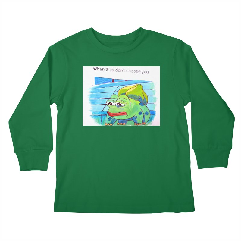 """pepesaur Kids Longsleeve T-Shirt by Art Prints by Seama available under """"Home"""""""