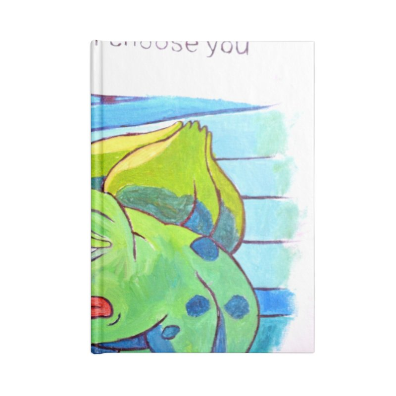 pepesaur Accessories Blank Journal Notebook by paintings by Seamus Wray