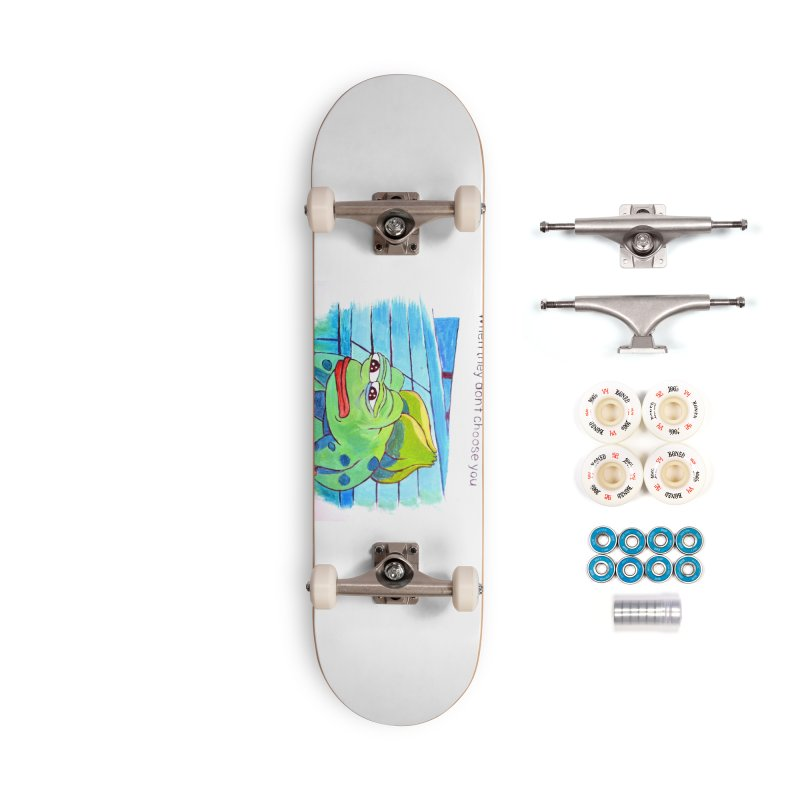 """pepesaur Accessories Complete - Premium Skateboard by Art Prints by Seama available under """"Home"""""""