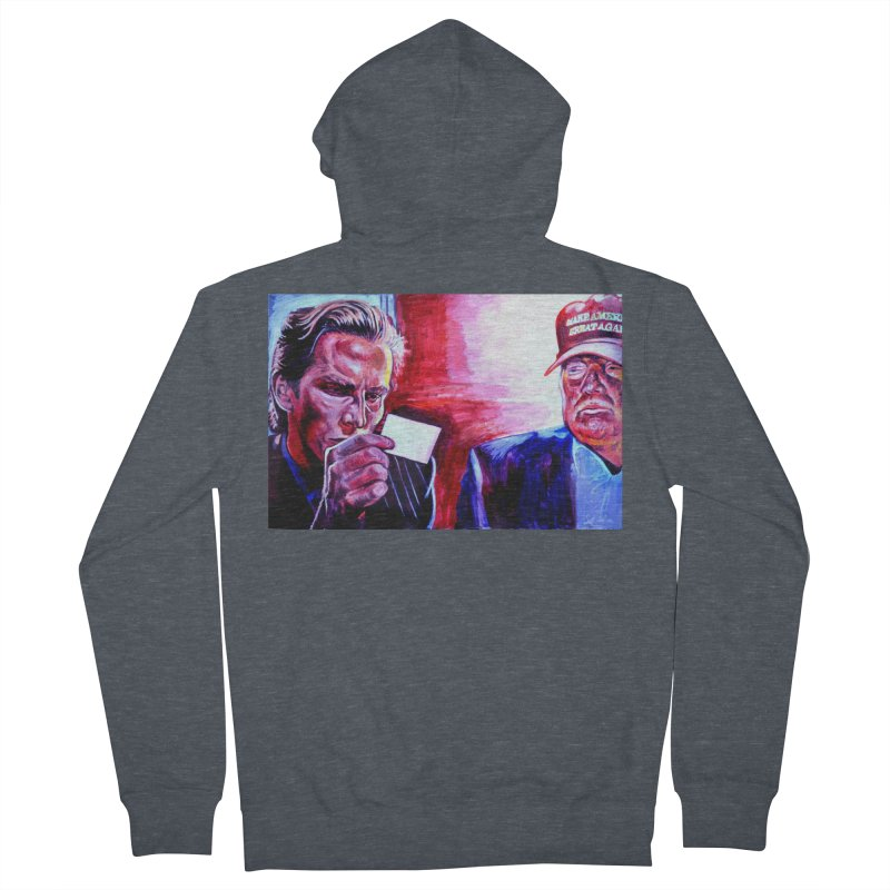 """american psycho Men's French Terry Zip-Up Hoody by Art Prints by Seama available under """"Home"""""""