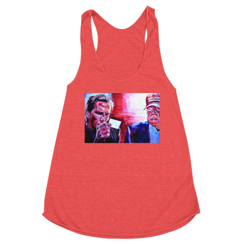 "american psycho Women's Racerback Triblend Tank by Art Prints by Seama available under ""Home"""