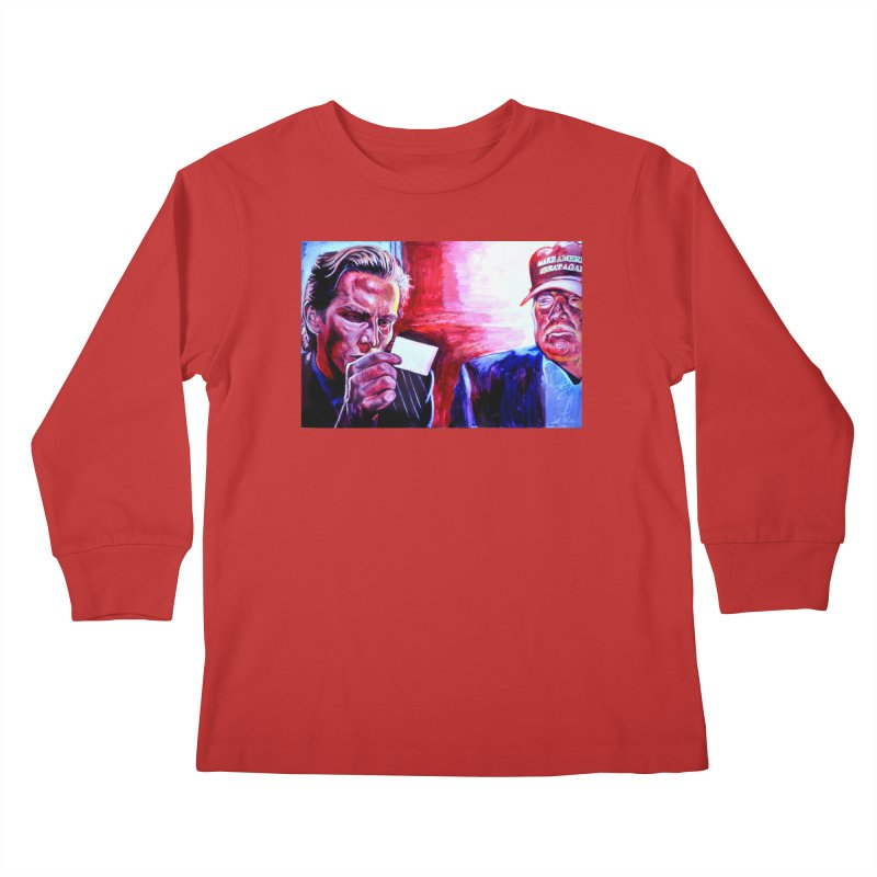 """american psycho Kids Longsleeve T-Shirt by Art Prints by Seama available under """"Home"""""""
