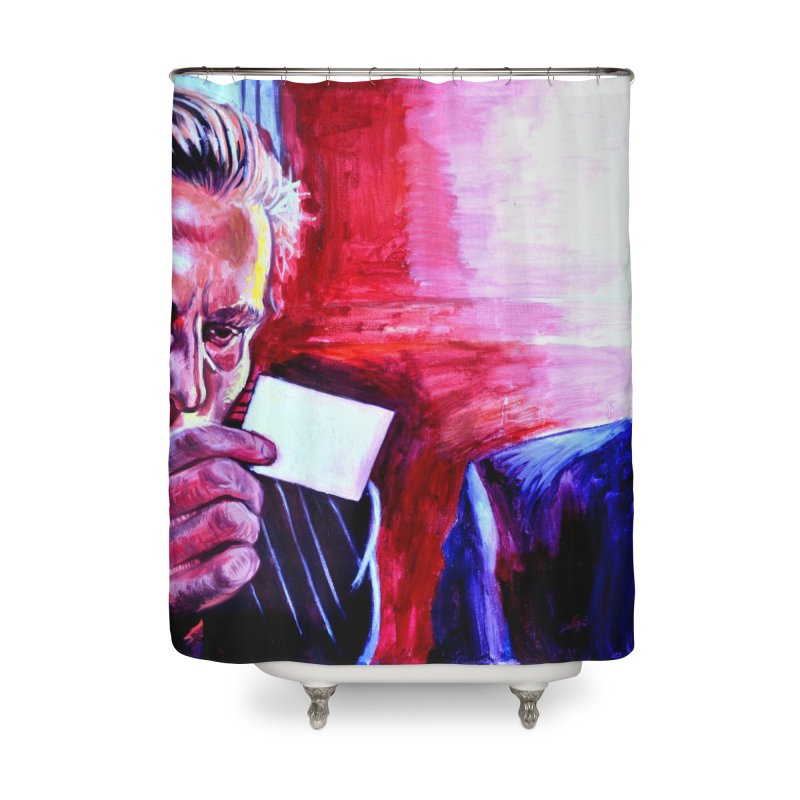 """american psycho Home Shower Curtain by Art Prints by Seama available under """"Home"""""""