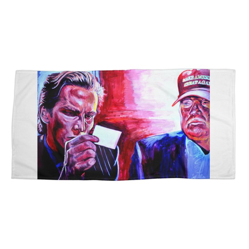 american psycho Accessories Beach Towel by paintings by Seamus Wray