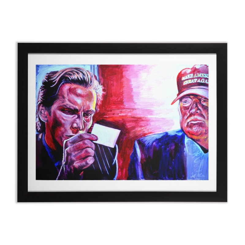 """american psycho Home Framed Fine Art Print by Art Prints by Seama available under """"Home"""""""