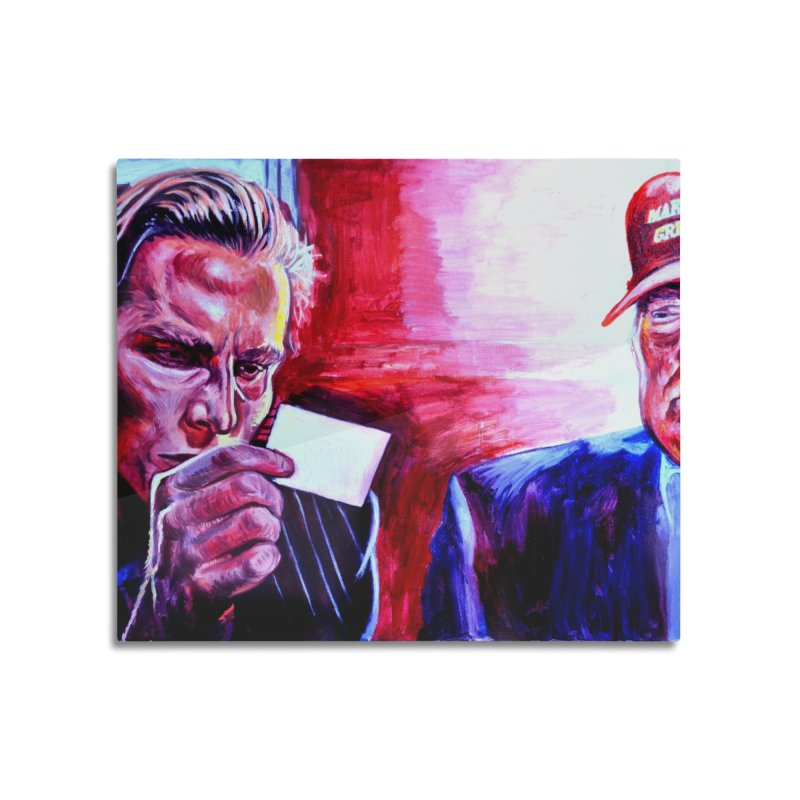 """american psycho Home Mounted Aluminum Print by Art Prints by Seama available under """"Home"""""""