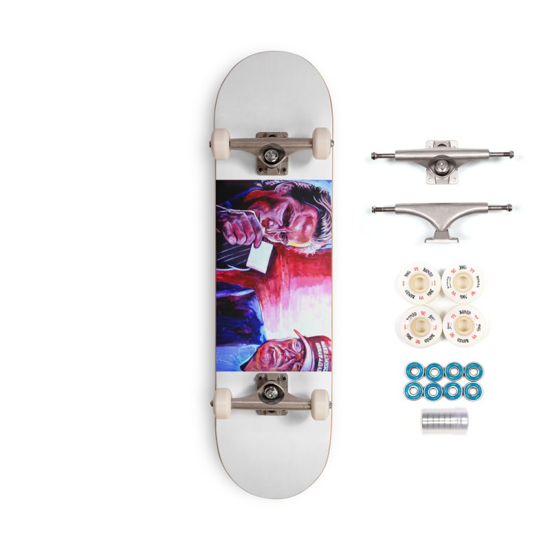 """american psycho Accessories Complete - Premium Skateboard by Art Prints by Seama available under """"Home"""""""
