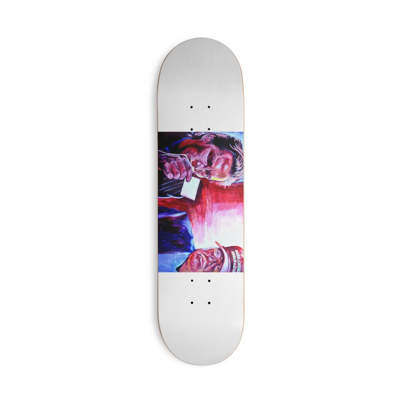 """american psycho Accessories Deck Only Skateboard by Art Prints by Seama available under """"Home"""""""