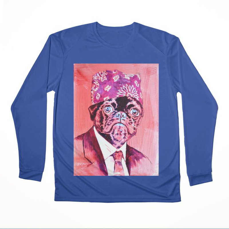 "pug mike Men's Performance Longsleeve T-Shirt by Art Prints by Seama available under ""Home"""