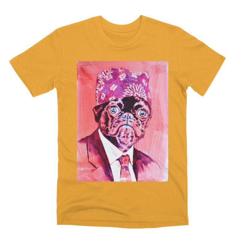 """pug mike Men's Premium T-Shirt by Art Prints by Seama available under """"Home"""""""