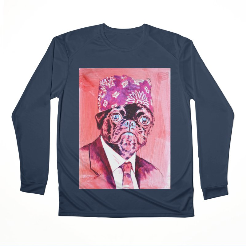 "pug mike Women's Performance Unisex Longsleeve T-Shirt by Art Prints by Seama available under ""Home"""