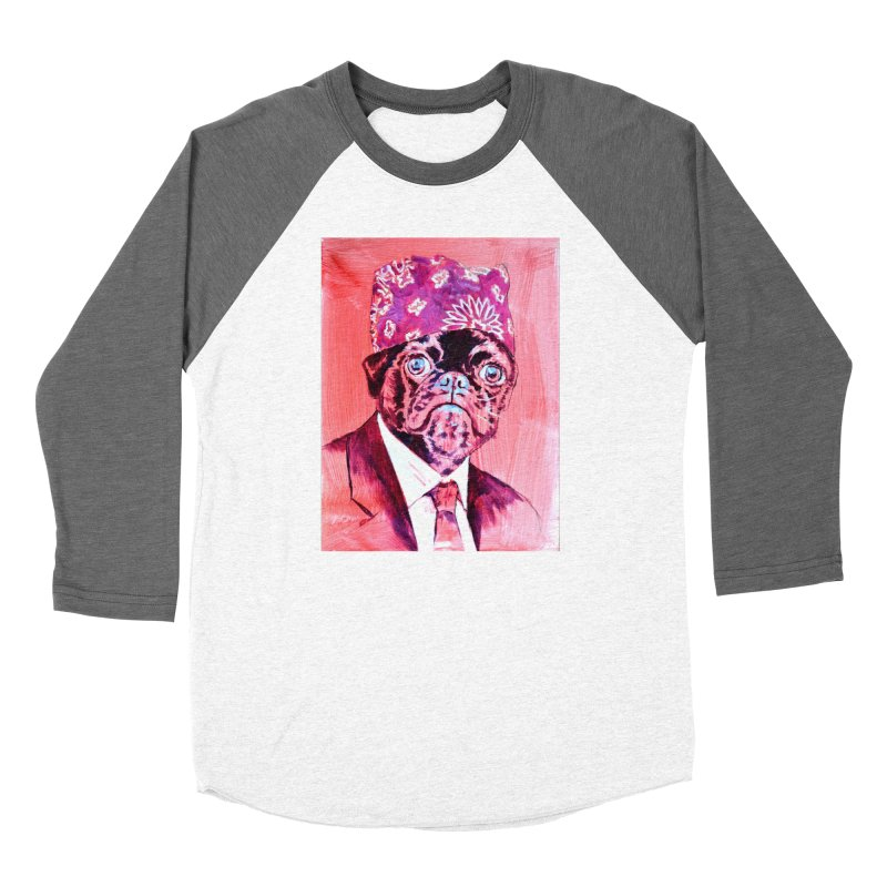 "pug mike Men's Baseball Triblend Longsleeve T-Shirt by Art Prints by Seama available under ""Home"""