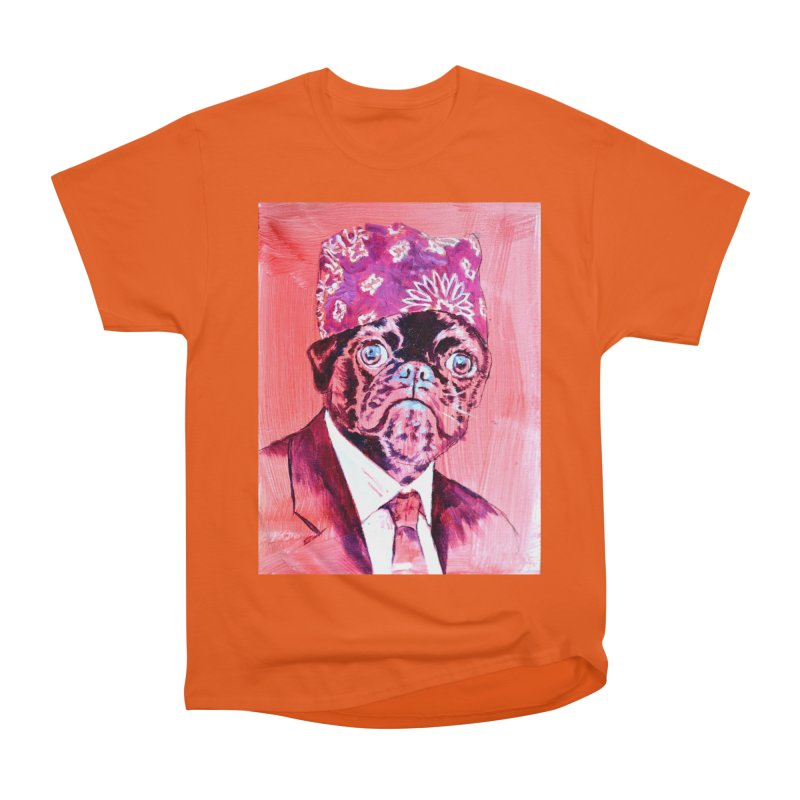 "pug mike Men's Heavyweight T-Shirt by Art Prints by Seama available under ""Home"""