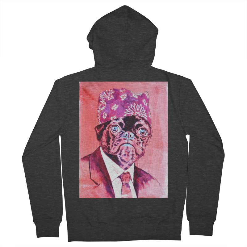 """pug mike Women's French Terry Zip-Up Hoody by Art Prints by Seama available under """"Home"""""""