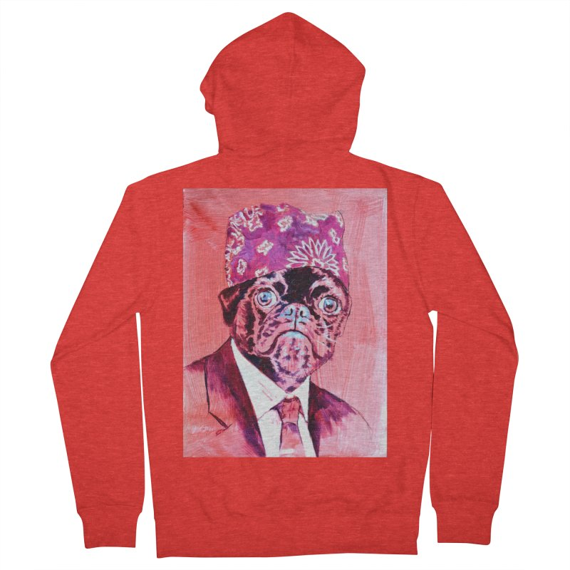 """pug mike Men's Zip-Up Hoody by Art Prints by Seamus Wray available under """"Home"""""""