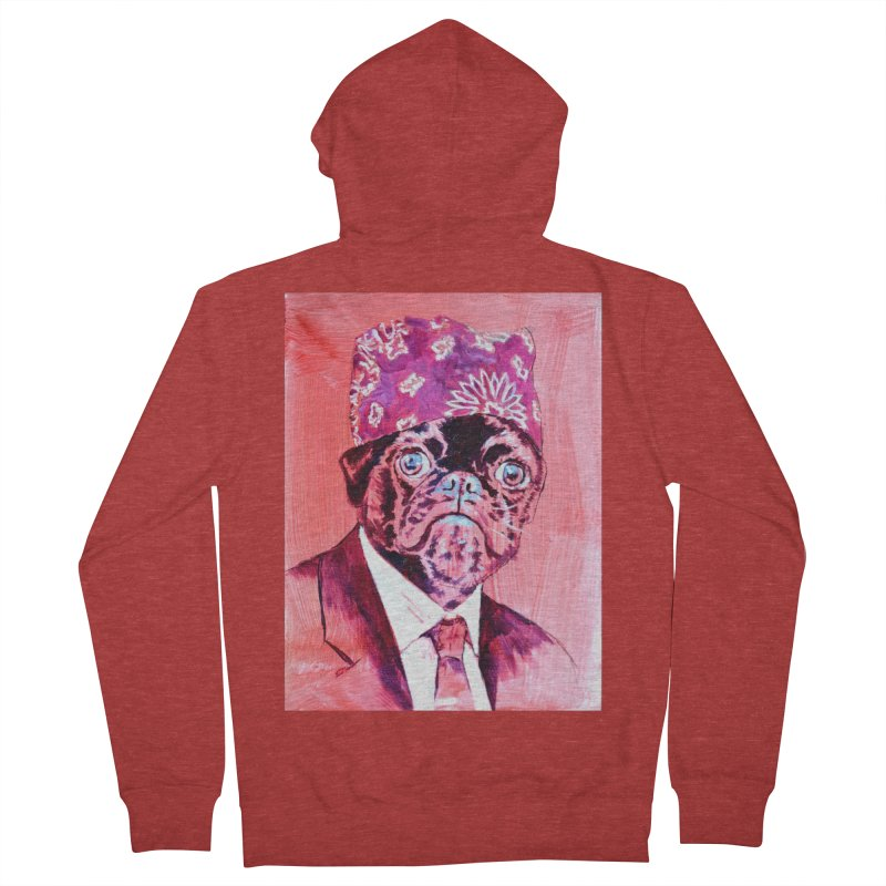 """pug mike Men's French Terry Zip-Up Hoody by Art Prints by Seama available under """"Home"""""""