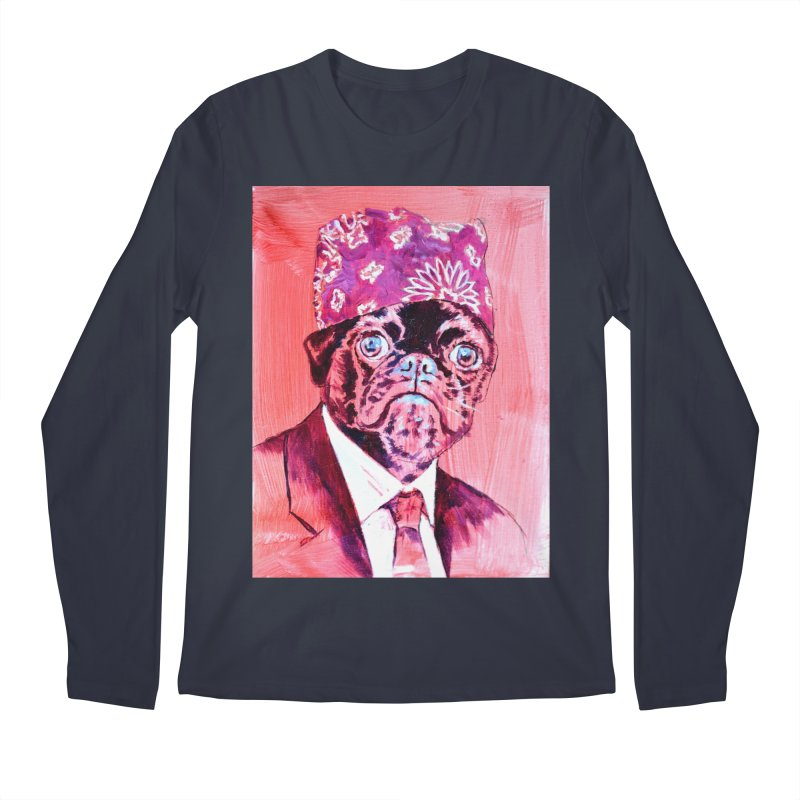"pug mike Men's Regular Longsleeve T-Shirt by Art Prints by Seama available under ""Home"""