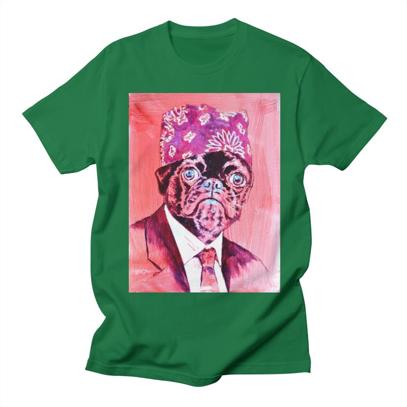 """pug mike Women's Regular Unisex T-Shirt by Art Prints by Seama available under """"Home"""""""