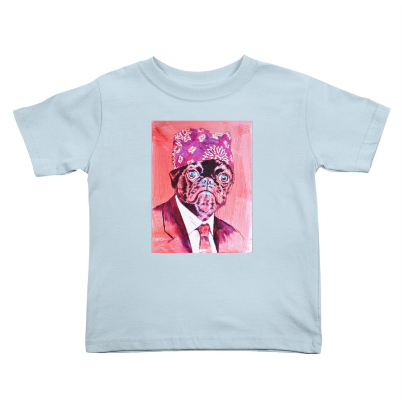 """pug mike Kids Toddler T-Shirt by Art Prints by Seama available under """"Home"""""""