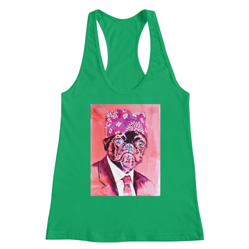 """pug mike Women's Tank by Art Prints by Seamus Wray available under """"Home"""""""