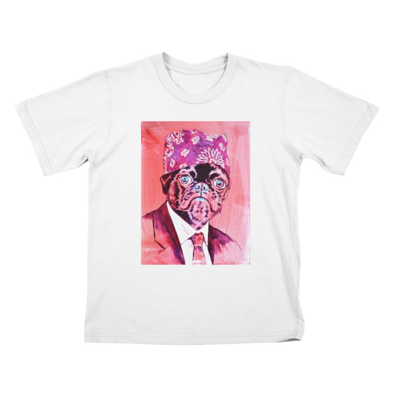 """pug mike Kids T-Shirt by Art Prints by Seamus Wray available under """"Home"""""""