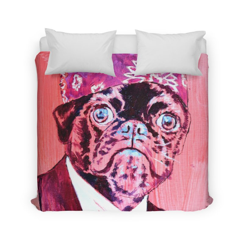 """pug mike Home Duvet by Art Prints by Seamus Wray available under """"Home"""""""