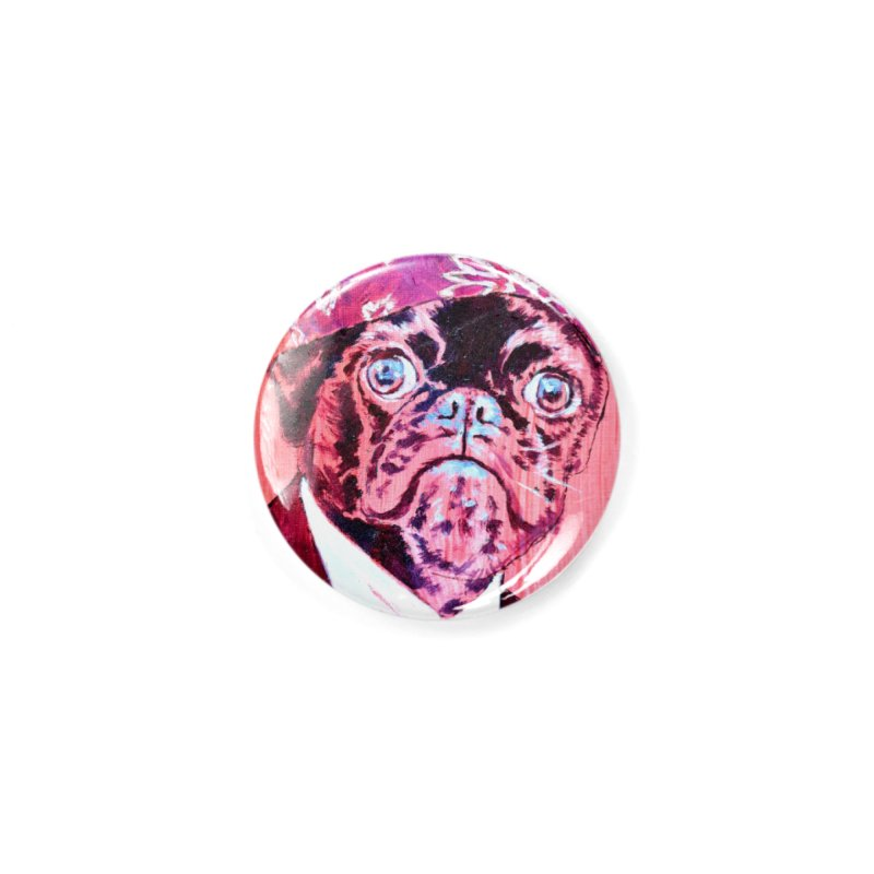 """pug mike Accessories Button by Art Prints by Seama available under """"Home"""""""