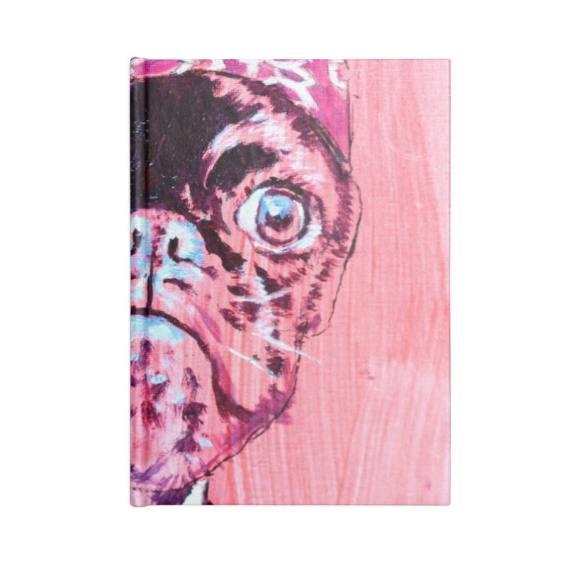 """pug mike Accessories Blank Journal Notebook by Art Prints by Seama available under """"Home"""""""