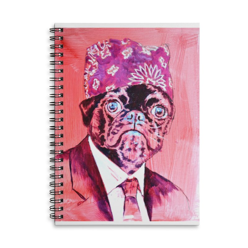 """pug mike Accessories Lined Spiral Notebook by Art Prints by Seama available under """"Home"""""""