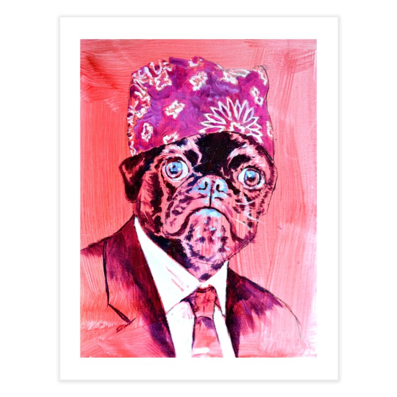 """pug mike Home Fine Art Print by Art Prints by Seamus Wray available under """"Home"""""""