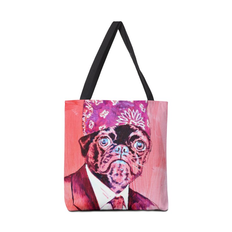 "pug mike Accessories Tote Bag Bag by Art Prints by Seama available under ""Home"""