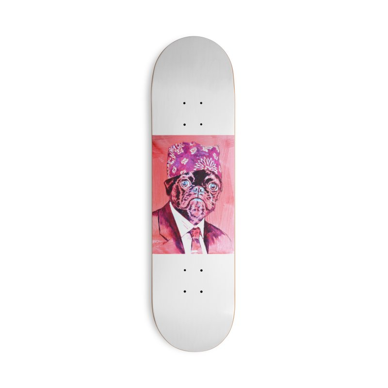 """pug mike Accessories Skateboard by Art Prints by Seamus Wray available under """"Home"""""""