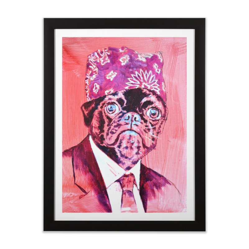 """pug mike Home Framed Fine Art Print by Art Prints by Seama available under """"Home"""""""
