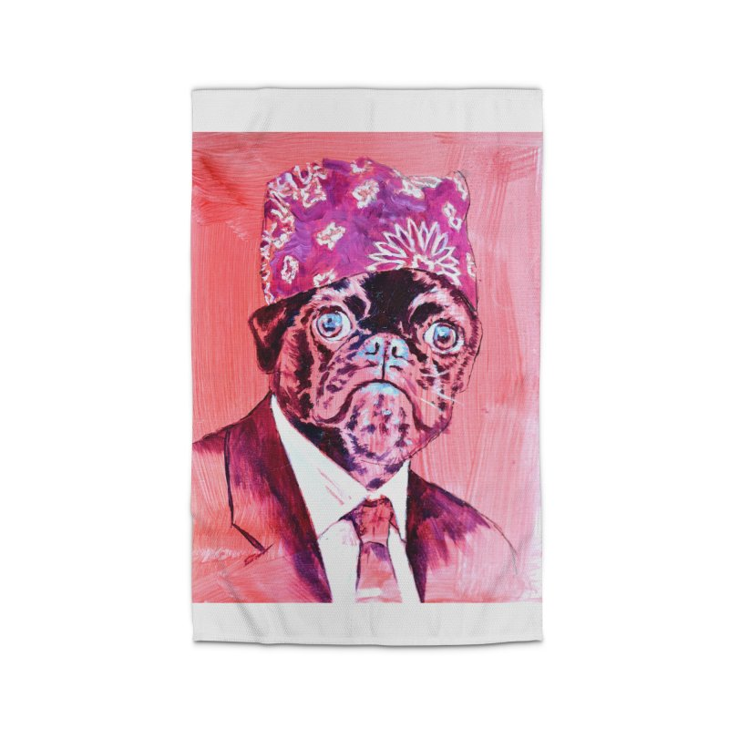 """pug mike Home Rug by Art Prints by Seamus Wray available under """"Home"""""""