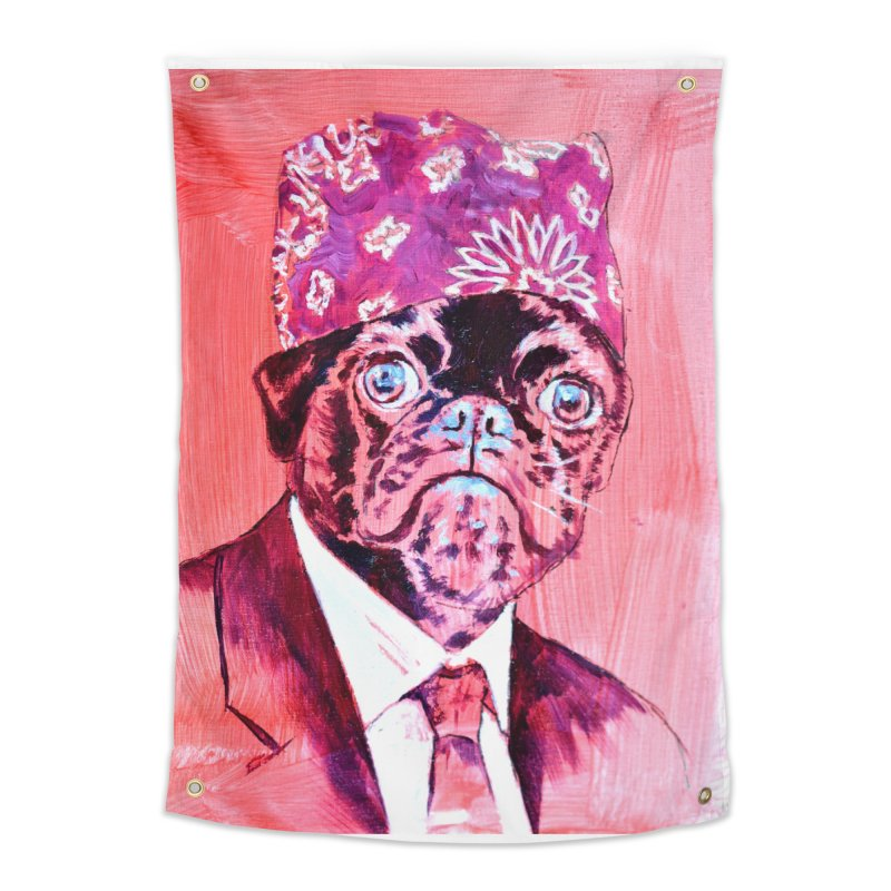 """pug mike Home Tapestry by Art Prints by Seamus Wray available under """"Home"""""""