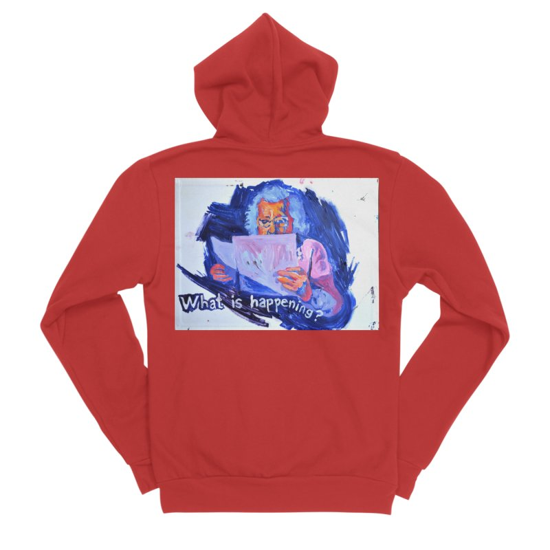 """what Men's Zip-Up Hoody by Art Prints by Seamus Wray available under """"Home"""""""