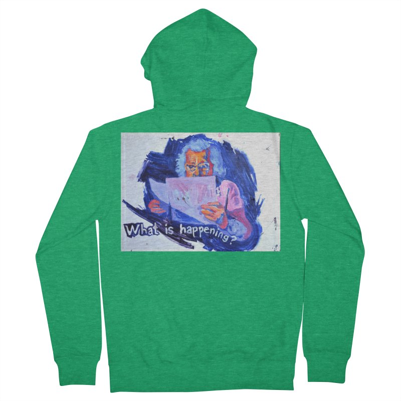 "what Men's Zip-Up Hoody by Art Prints by Seamus Wray available under ""Home"""