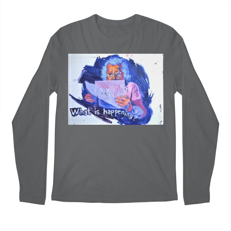 """what Men's Longsleeve T-Shirt by Art Prints by Seamus Wray available under """"Home"""""""