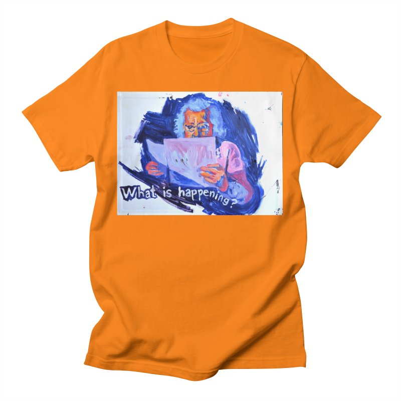 """what Men's T-Shirt by Art Prints by Seamus Wray available under """"Home"""""""