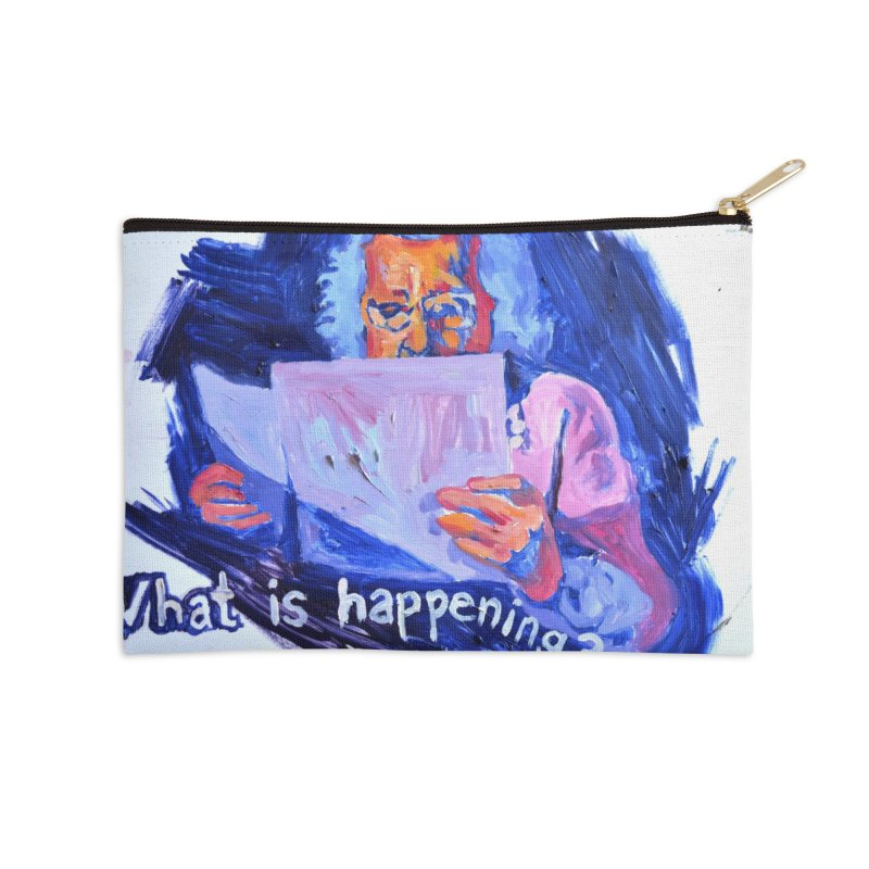 """what Accessories Zip Pouch by Art Prints by Seamus Wray available under """"Home"""""""