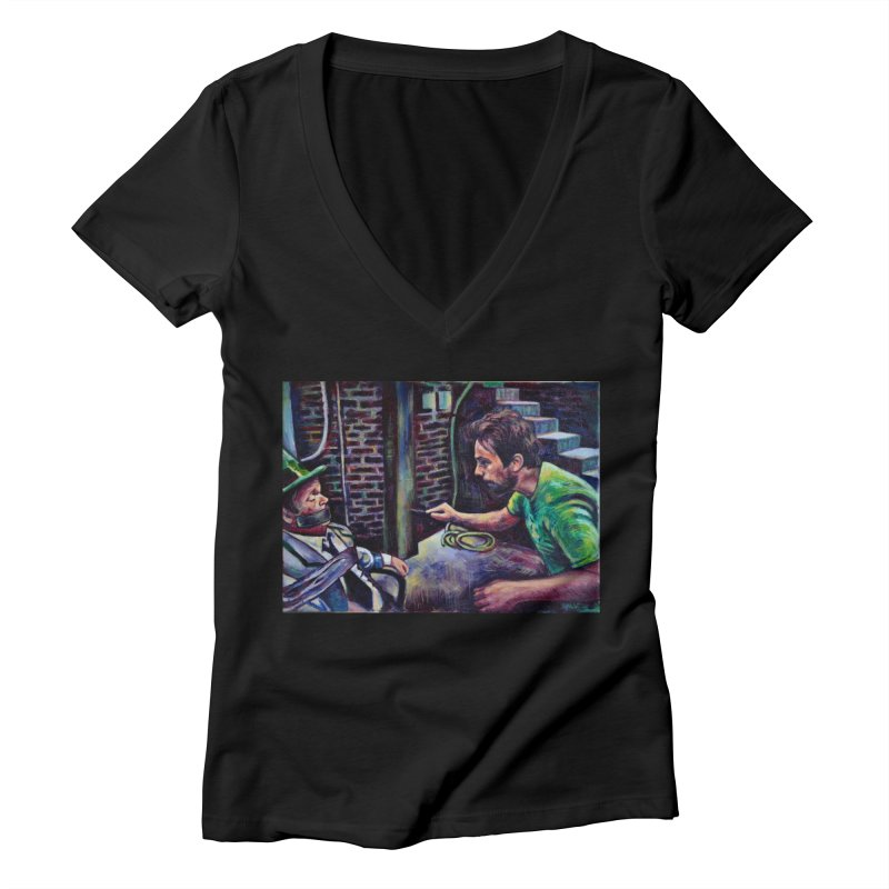 "wrong basement Women's V-Neck by Art Prints by Seama available under ""Home"""