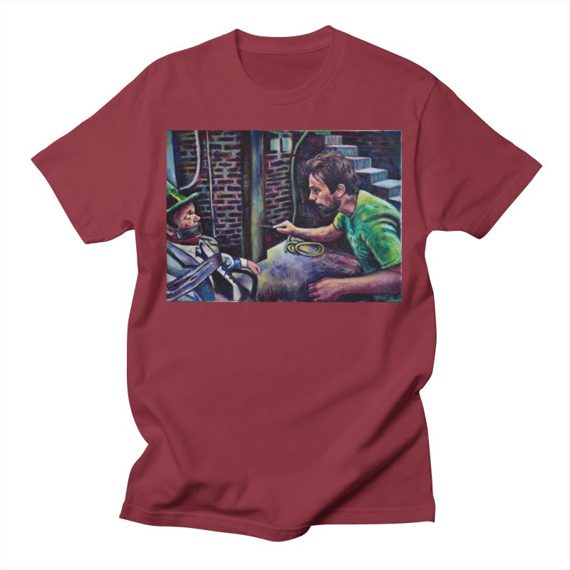 """wrong basement Men's T-Shirt by Art Prints by Seamus Wray available under """"Home"""""""