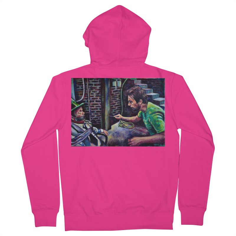 """wrong basement Men's Zip-Up Hoody by Art Prints by Seamus Wray available under """"Home"""""""