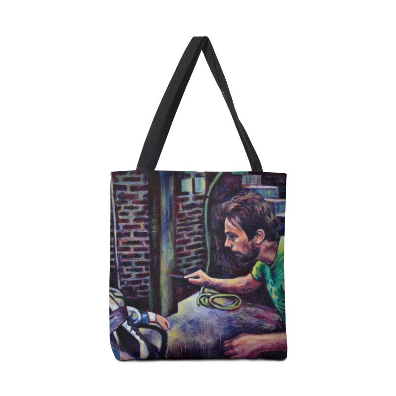 """wrong basement Accessories Bag by Art Prints by Seama available under """"Home"""""""