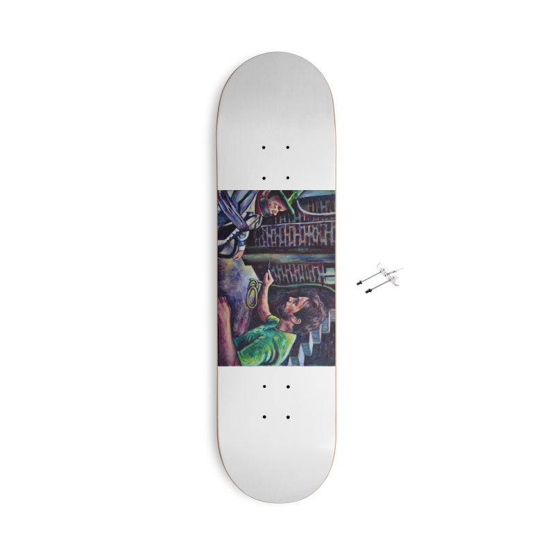 """wrong basement Accessories Skateboard by Art Prints by Seamus Wray available under """"Home"""""""