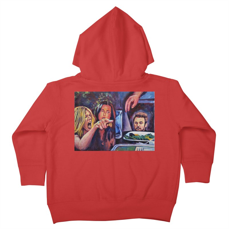 """charlie cat Kids Toddler Zip-Up Hoody by Art Prints by Seamus Wray available under """"Home"""""""