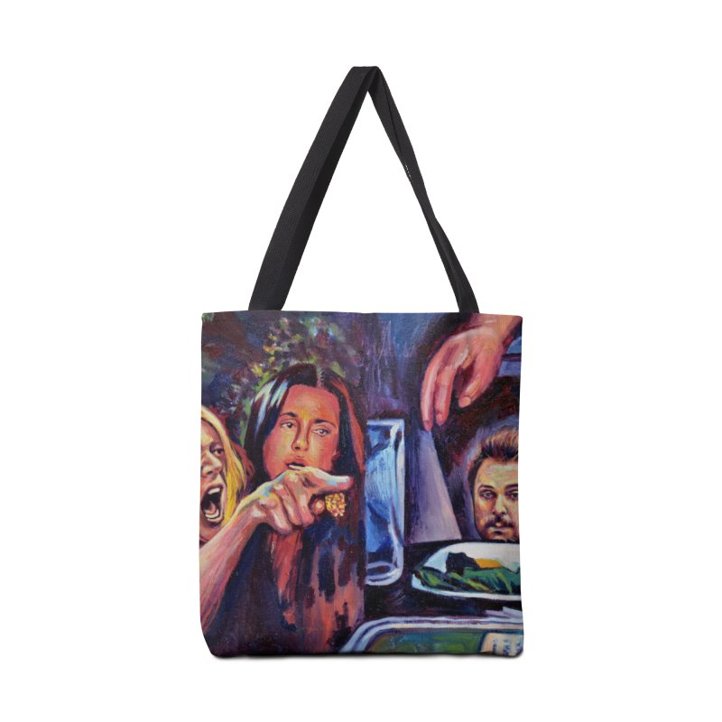 "charlie cat Accessories Bag by Art Prints by Seama available under ""Home"""