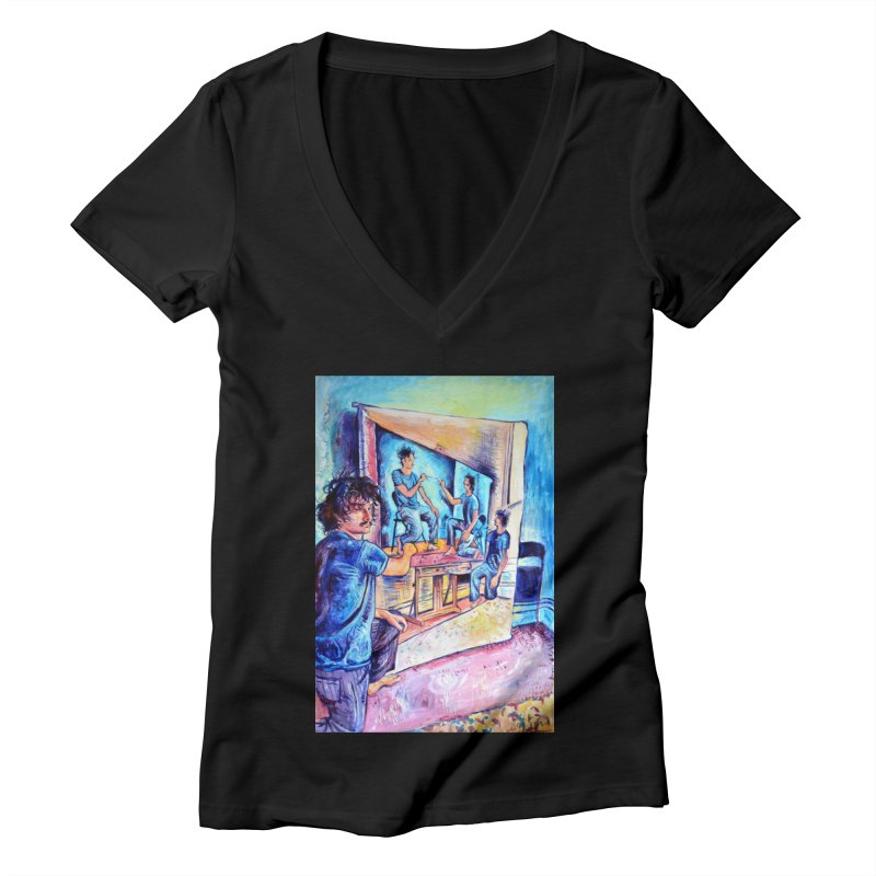 """selfportraitception Women's V-Neck by Art Prints by Seama available under """"Home"""""""
